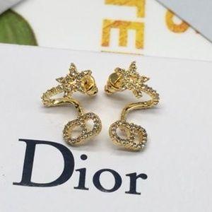 Dior Stars With CD logo Earrings